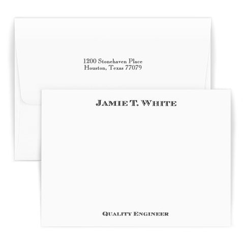 Personalized Stationery and Invitations - Traditional