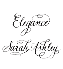 Sample of Elegance lettering style