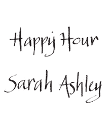 Sample of Happy Hour lettering style