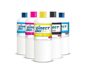 Ink Set: Dupont CMYK + White DTG Printing Inks