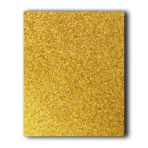 Gold Glitter Direct-Cut (Sticky PET) Sample