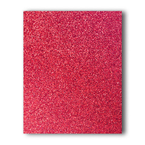Red Glitter Direct-Cut (Sticky PET) Sample