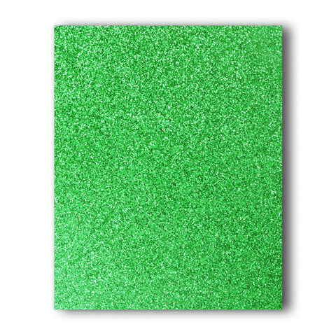 Green Glitter Direct-Cut (Sticky PET) Sample