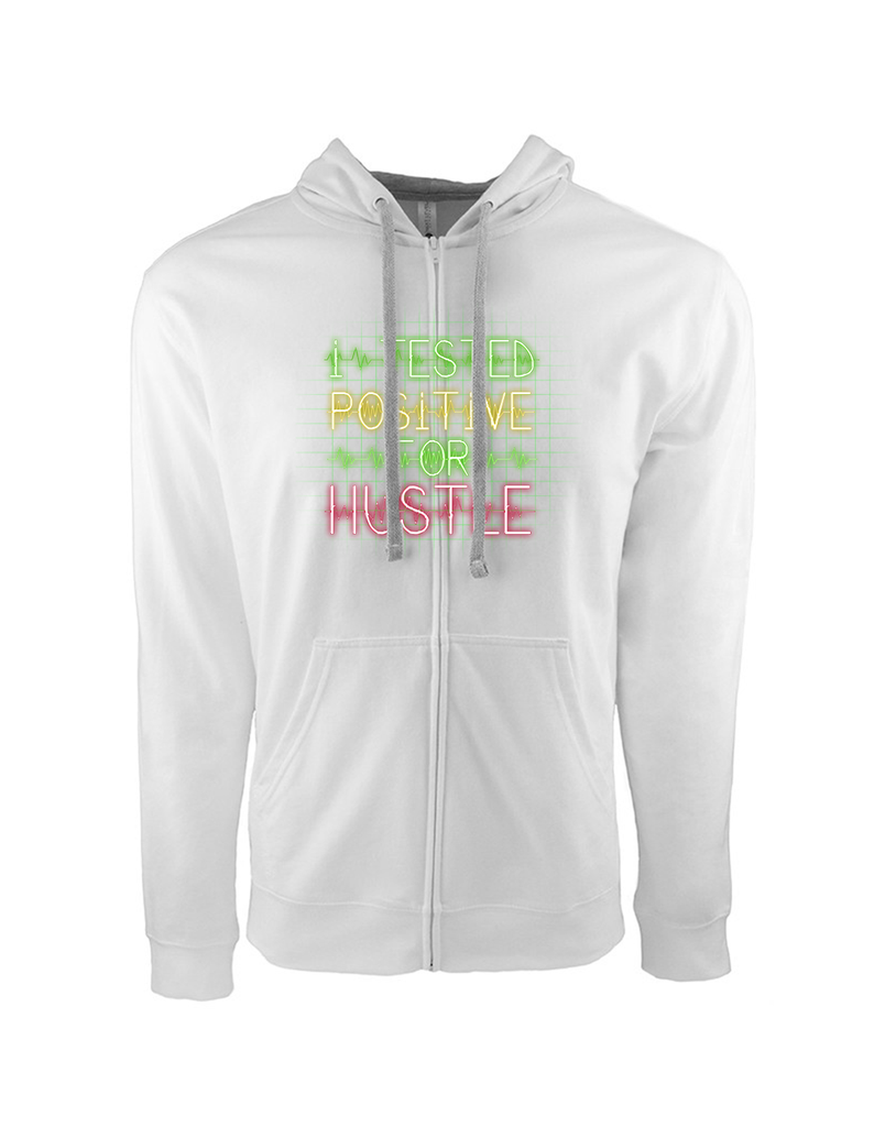 Mens Tested Positive Grid Zip Hoodie