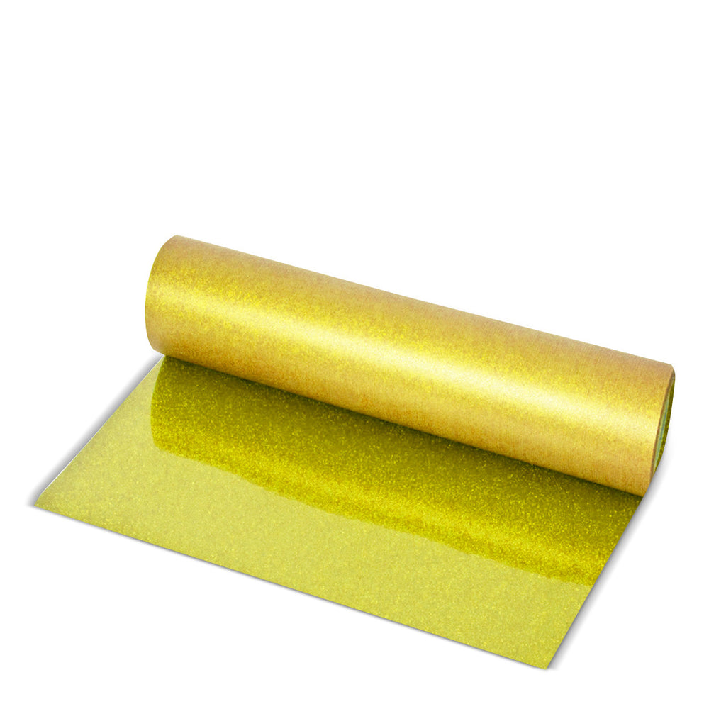Light Gold Glitter Direct-Cut (Sticky PET)