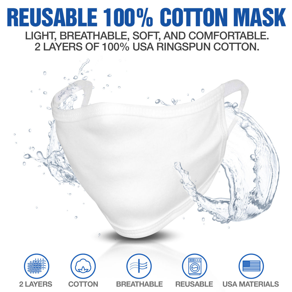 Reusable 100% Cotton Corona Virus Protective Facemask