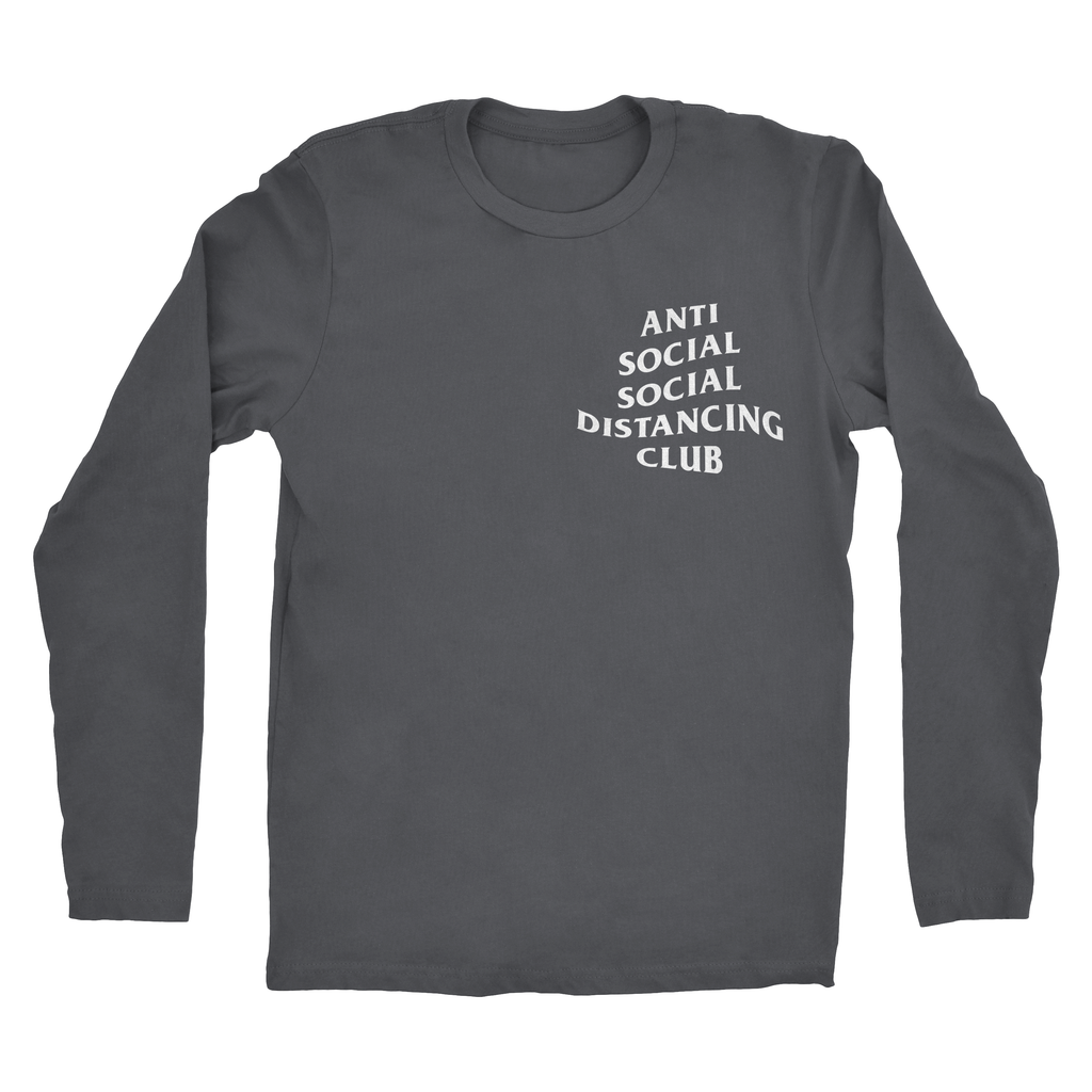 Mens Antisocial Distancing Long Sleeve Tee
