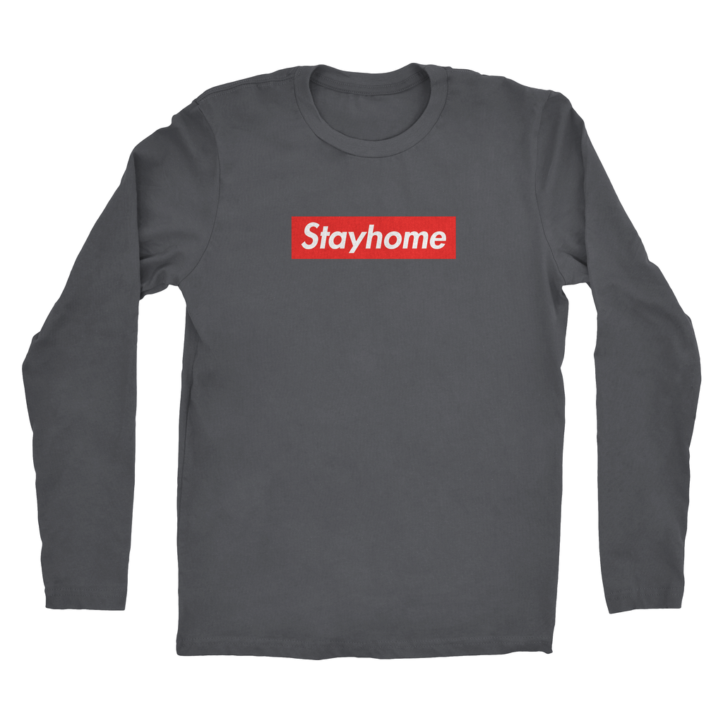Mens Stay Home Long Sleeve Tee