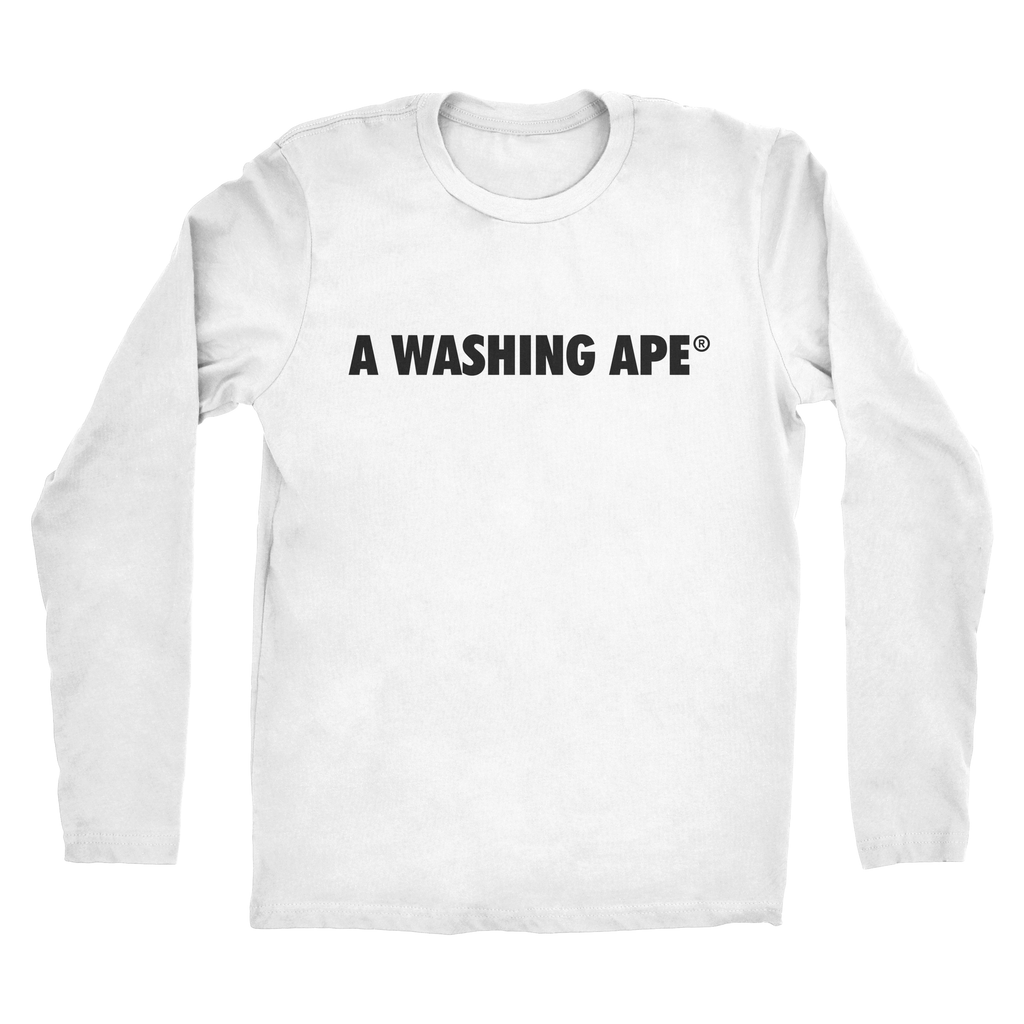 Mens A Washing Ape Long Sleeve Tee