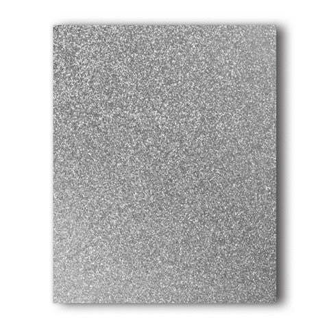 Silver Glitter Direct-Cut (Sticky PET) Sample