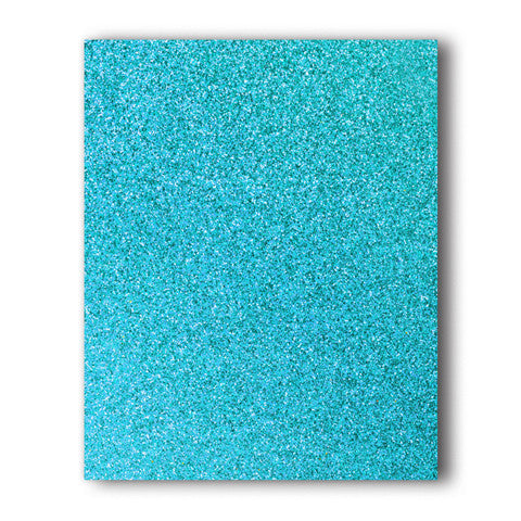 Steel Blue Glitter Direct-Cut (Sticky PET) Sample