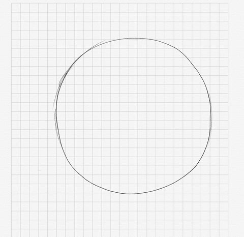 Drawing of a circle for Far FromTimid's weekly series Working From Heart with Prateek Vatash
