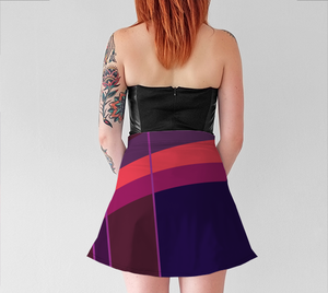 Women's Witty Skater Skirt - Grace Jones - Purple/Pink