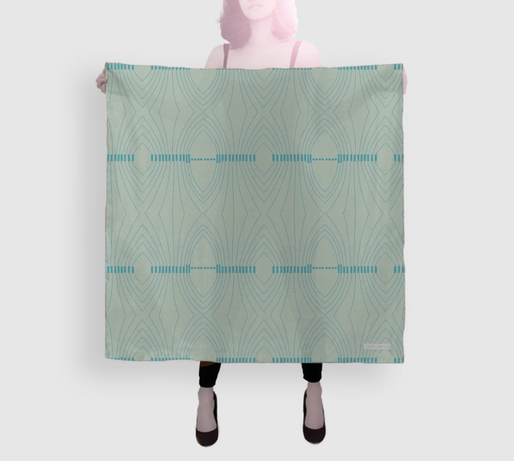 Epic Silk Square Scarf - Going To Smash - Seafoam Green