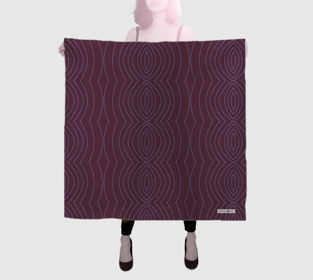 Epic Square Silk Scarf - Noise - Eggplant