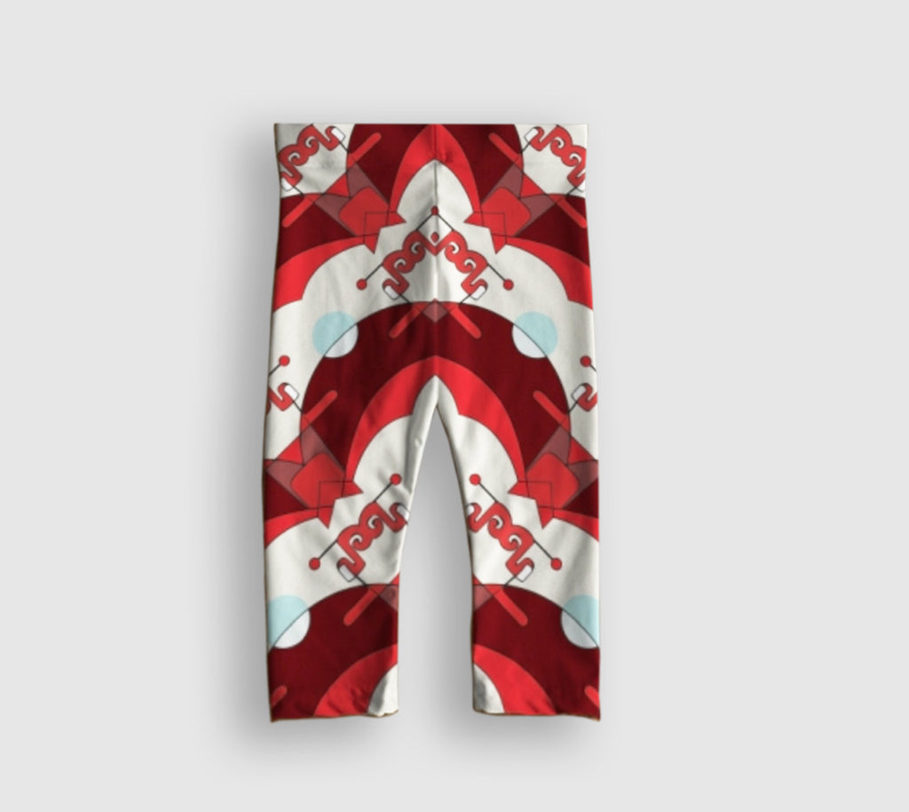 Glorious Baby Leggings - Neural Traffic Stop - Red