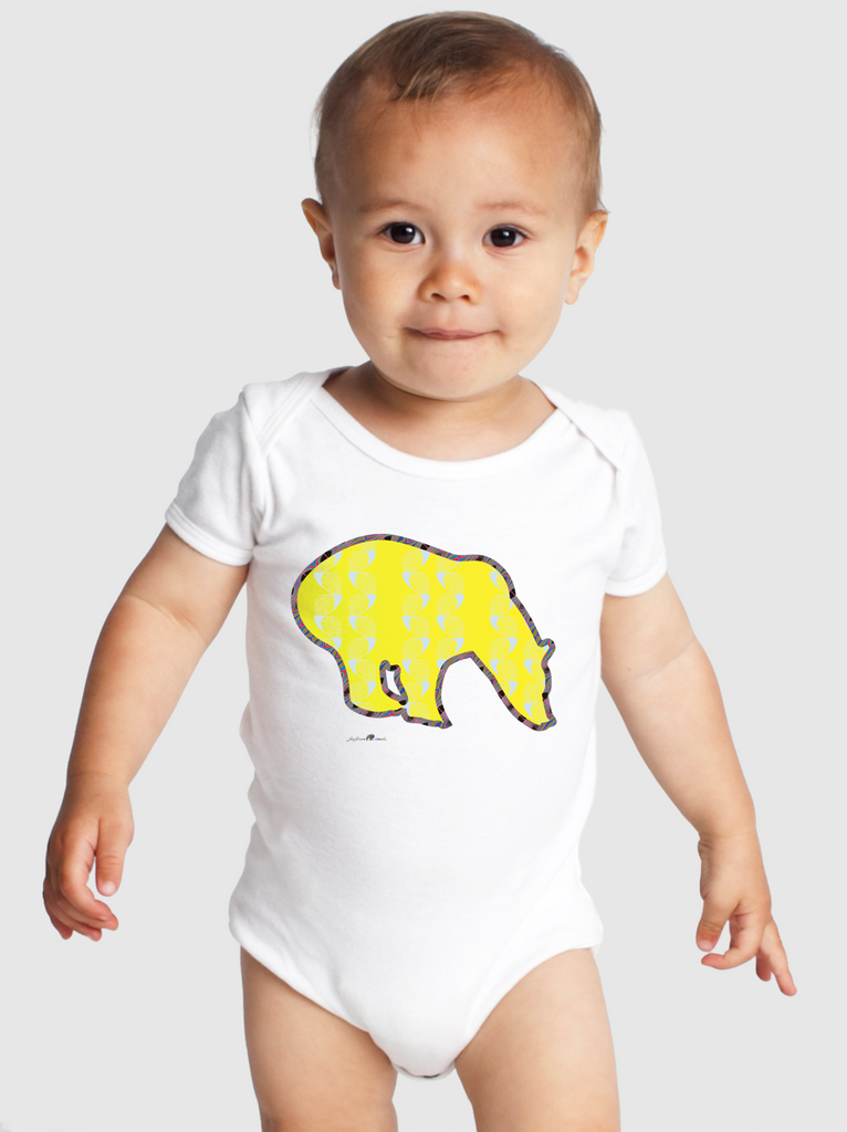 So Cultured Signature Onesie - Coup de Grace - Yellow