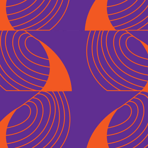 Far From Timid Pattern: Coup de Grace Purple/Orange