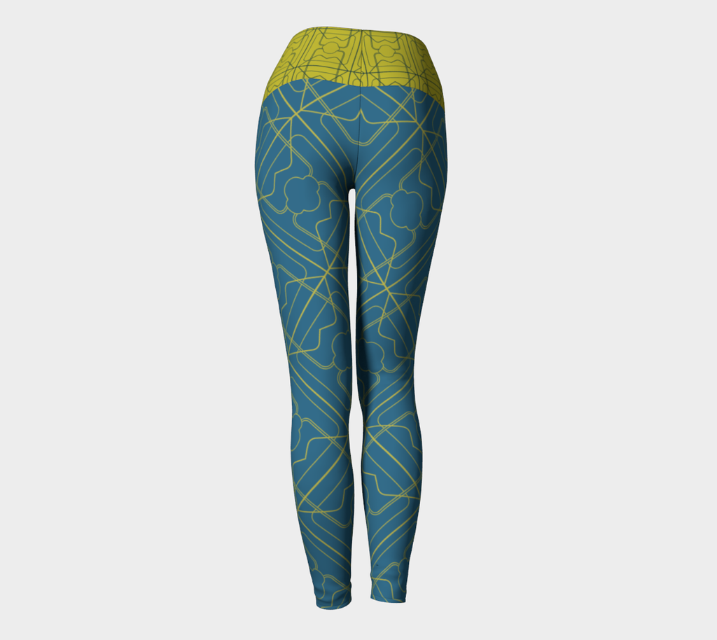 FoldOver The Moon Day to Night 3 Years Leggings - Aqua / Maize