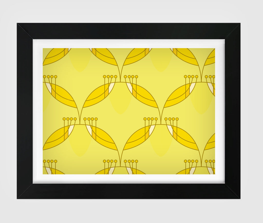 So Fine Luxurious Print - Neural Traffic Graphic - Maize