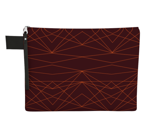Carry Me Home Clutch - Divine Grace  - Burgundy /  Orange