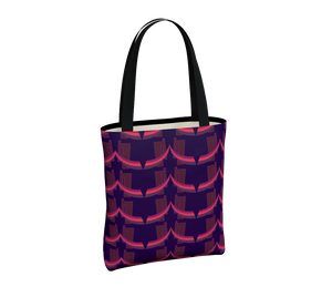 Day to Night Lined Tote - Grace Jones - Purple