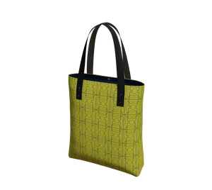 Day to Night Lined Tote - 3 Years - Olive/Aqua