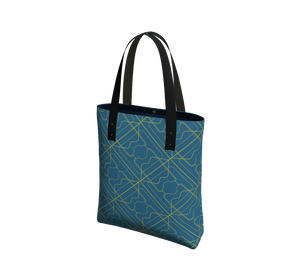 Day to Night Lined Tote - 3 Years - Aqua/Maize