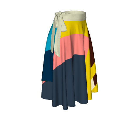 *Then What* Classic Wrap Skirt - Multi