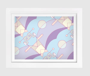 So Fine Luxurious Print - Neural Traffic Graphic - Pastel Purple/Blue