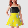 Women's Witty Skater Skirt - Coup De Grace - Yellow