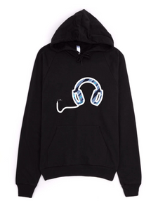 Men's Sound Hoodie -Neural Traffic Fast - Blue