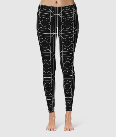 Women's Glorious Day to Night Leggings - 3 Years - Black/White