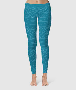 Women's Glorious Day to Night Leggings - Divine Grace - Blue