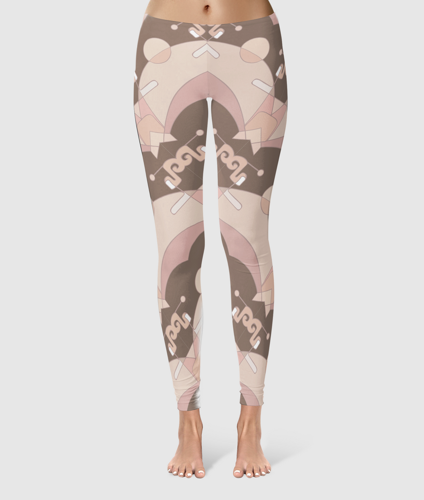 Women's Glorious Day to Night Leggings - Neural Traffic Stop - Beige