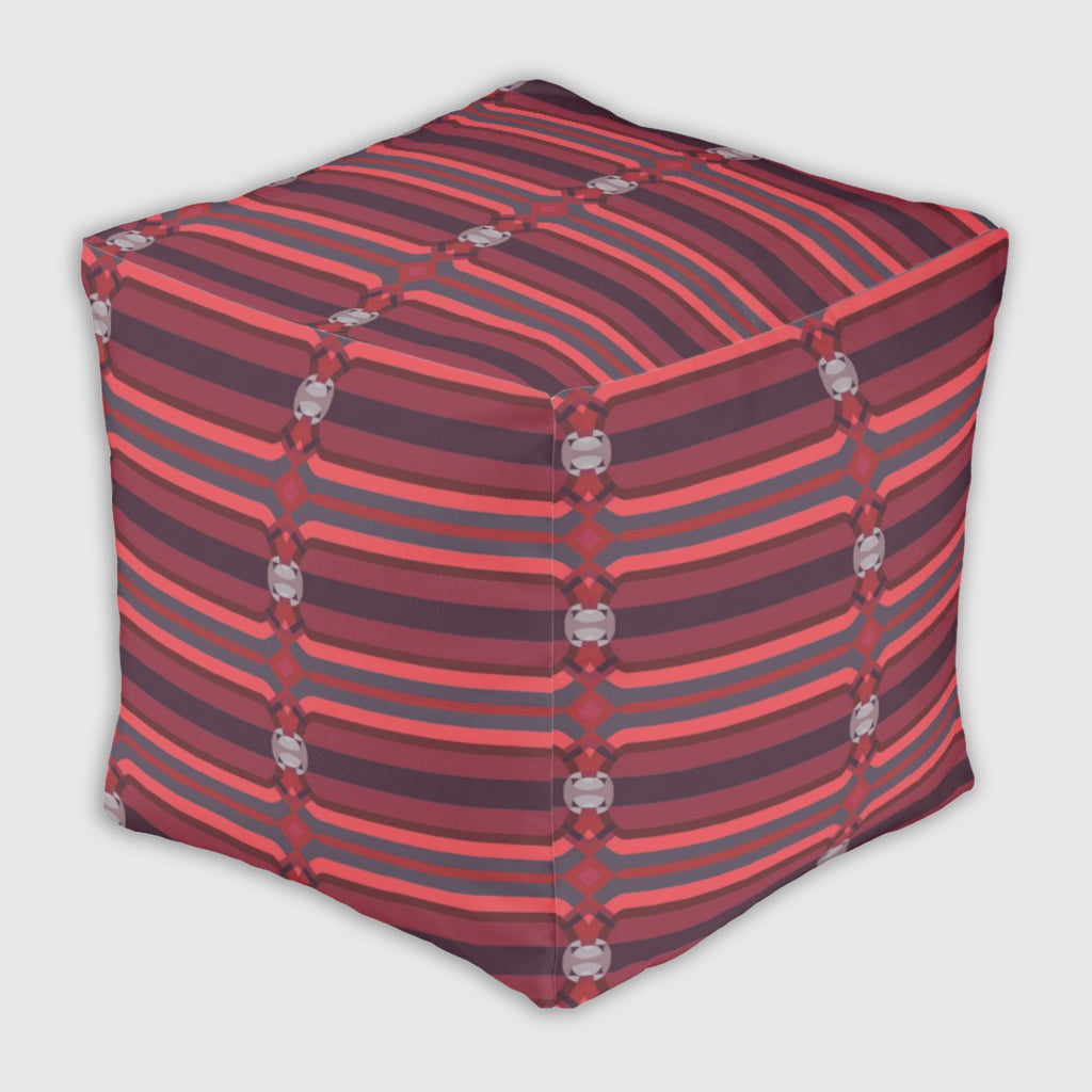 Ottoman #FunCube - Neural Traffic Fast - Red #Valentine
