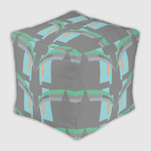 Ottoman #FunCube - Grace Jones - Electric Blue/Green