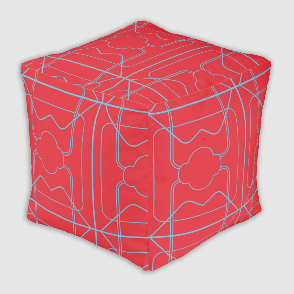 Ottoman #FunCube - 3 Long Years - Red/Blue