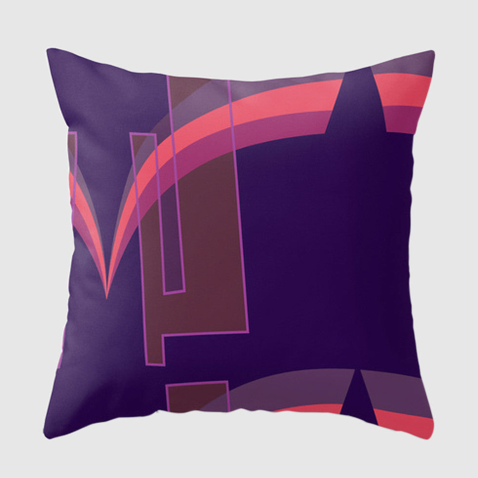 Spoken Pillow - Grace Jones - Purple/Pink