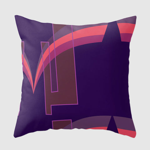 Mid-Century Modern Inspired Pillow - Grace Jones - Purple/Pink
