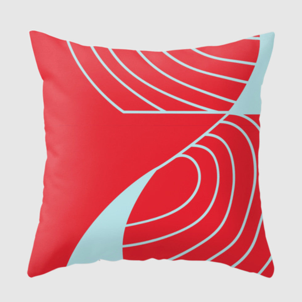 Spoken Pillow - Coup De Grace - Red/Blue