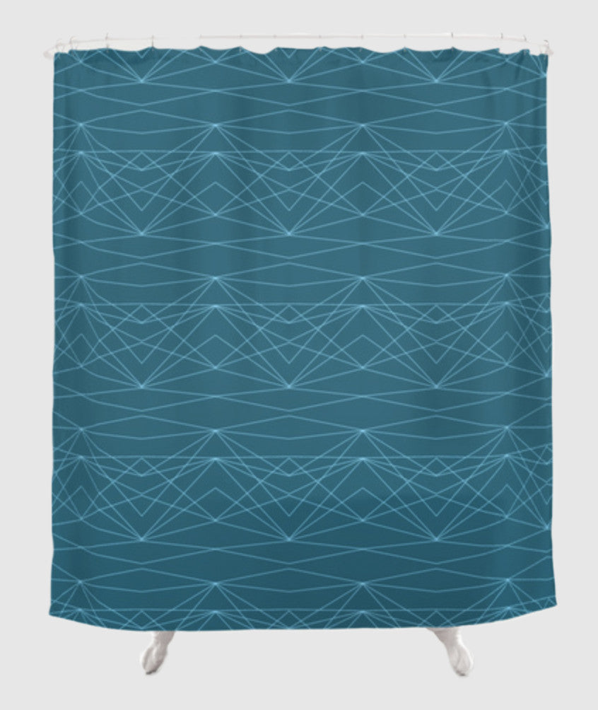 The Fearless Shower Curtain - Divine Grace - Blue
