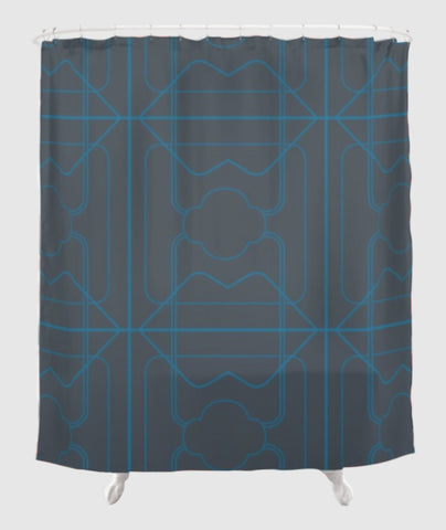 The Fearless Shower Curtain - 3 Long Years - Electric/Blue