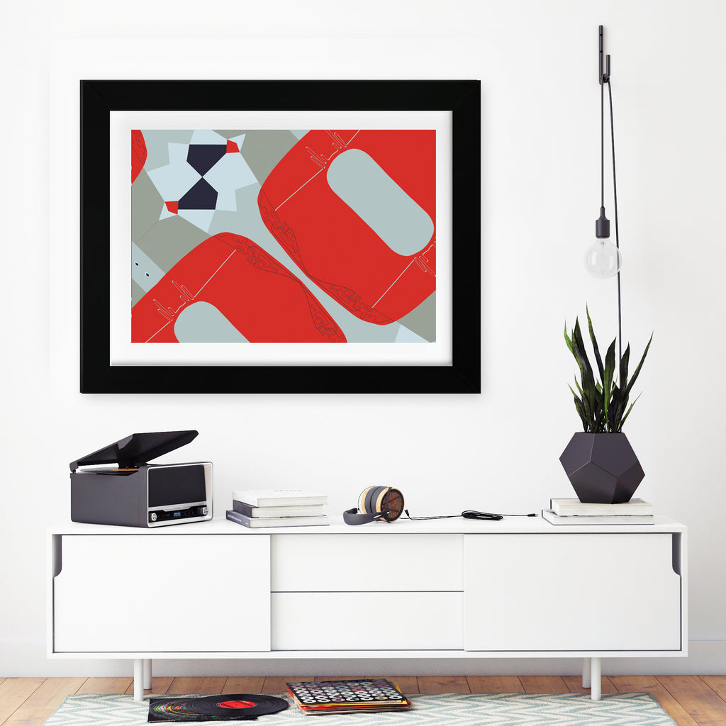 "So Fine Luxurious Print - Always Ask Why - Red Blue - 24"" x 30"" inches"
