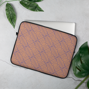 Sky's The Limit Laptop Sleeve - 3 Years - Peach/Purple