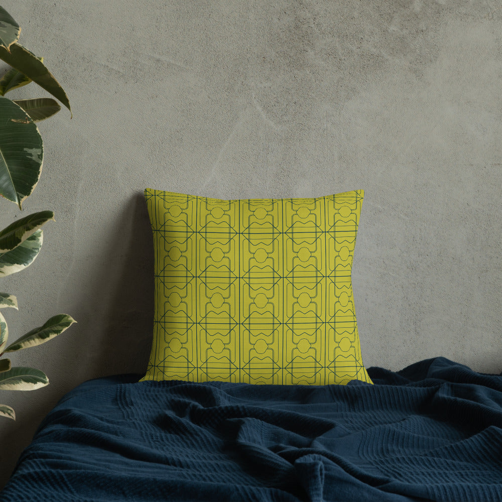 Chill Hard Pillow - 3 Years - Maize/Aqua