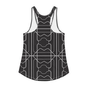 No Contest Women's Racerback Tank - 3 Years - Black / White