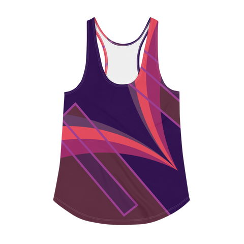 No Contest Women's Racerback Tank - Grace Jones - Purple
