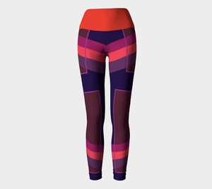 FoldOver The Moon Leggings - Grace Jones - Purple