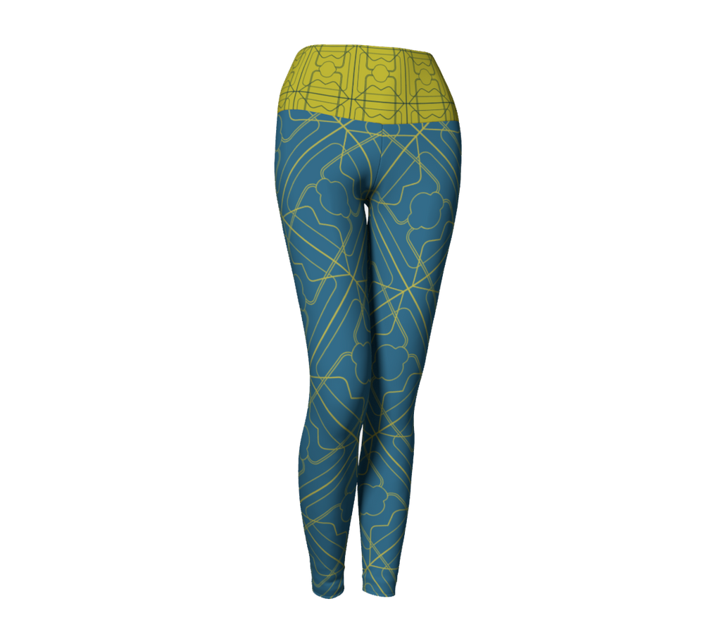 *Then What*  Day to Night 3 Years Leggings - Aqua / Maize